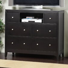 <strong>Alpine Furniture</strong> Vista 6 Drawer Media Chest