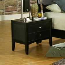 <strong>Alpine Furniture</strong> Vista 2 Drawer Nightstand