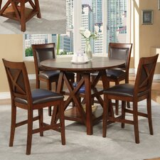 <strong>Alpine Furniture</strong> Oberlin 5 Piece Counter Height Dining Set