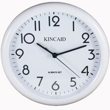 Always Set ™ Wall Clock in White