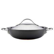 "Nouvelle Stainless 14.5"" Covered Wok"