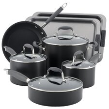 Advanced Hard Anodized Nonstick 11 Piece Cookware and Bakeware Set