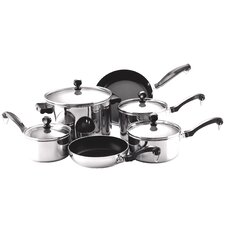 <strong>Farberware</strong> Classic Stainless Steel 10-Piece Cookware Set