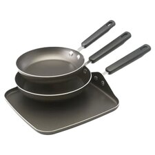 3 Piece Nonstick Skillet Set