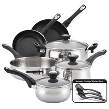 New Traditions Stainless Steel 12-Piece Cookware Set