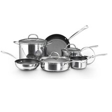 <strong>Farberware</strong> Millennium Polished Stainless Steel 10-Piece Cookware Set
