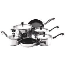 Classic Stainless Steel 10-Piece Cookware Set