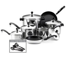 <strong>Farberware</strong> Classic Stainless Steel 15-Piece Cookware Set