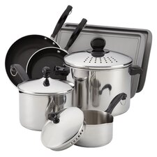 <strong>Farberware</strong> Classic Stainless 10-Piece Cook & Strain Cookware Set