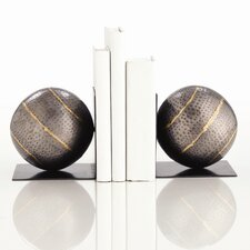 Gauge Hammered Iron Bookend with Brass Highlights in Natural (Set of 2)