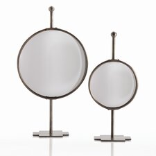 Garbo Tabletop Adjustable Convex Mirror in Antique Bronze
