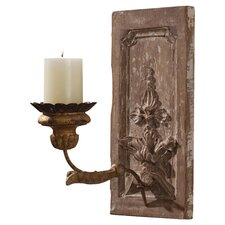 Orleans Hand Carved Solid Wood / Iron Sconce