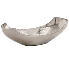 Swain Large Hammered Polished Nickel Bowl