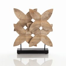 Ella Carved Wood Sculpture in Natural Wax
