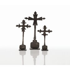 3 Piece Ivan Cross Sculpture Set