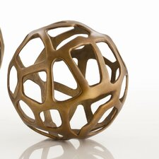 Ennis Web Sphere in Antique Brass