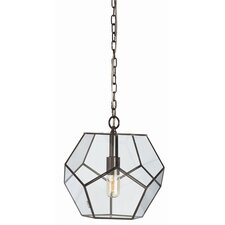 Tenley Bronze Iron / Glass Faceted Pendant