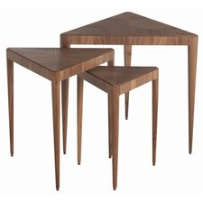 Ori Walnut Veneer and Solids 3 Piece Nesting Tables