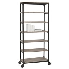 Faust Iron / Wood Rolling Shelving Unit