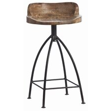 Henson Wood / Iron Swivel Counter Stool
