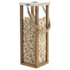 Tate Glass / Wood / Steel Lantern