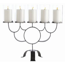 Tatum 5 Lite Iron / Glass Candelabra