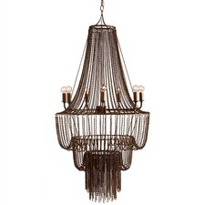Maxim 7 Light Iron Beaded Chandelier