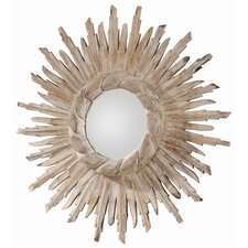 Versailles Hand Carved Solid Wood Starburst Mirror