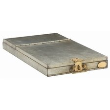Nelson Metal / Brass French Safety Deposit Box