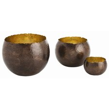 Alessandria Hammered Bowl (Set of 3)