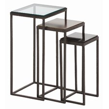 <strong>ARTERIORS Home</strong> Knight Waxed Hammered 3 Piece Nesting Table