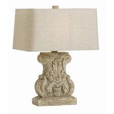 "Early 23.5"" H Table Lamp with Rectangle Shade"