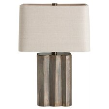 "Ziggurat 22.5"" H Table Lamp with Rectangle Shade"