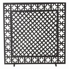 Houston 1 Panel Iron Fireplace Screen