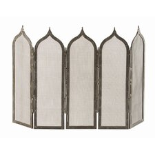Georgie 5 Panel Iron Fireplace Screen