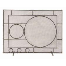 1 Panel Iron Fireplace Screen