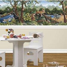 Rainforest Mural Style Wallpaper Border