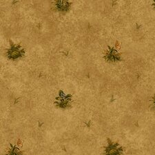 Lodge Décor Woodland Toss Floral Botanical Wallpaper