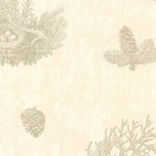 Lodge Décor Toile Wallpaper