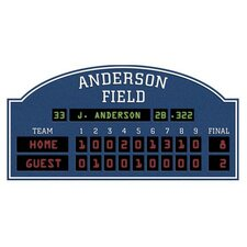 Unique Personalized Baseball Scoreboard Peel and Stick in Blue