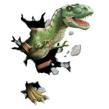 Unique Peel and Stick Tyrannosaurus Rex Through Wall Decal