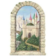 Enchanted Kingdom Mountainview Castle Window Wall Decal