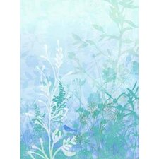 Modern Murals Wildflower Mural in Light Blue