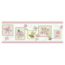 Whimisical Wall Springtime Border in Pink Lemonade