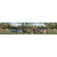 <strong>4 Walls</strong> Whimisical Wall Borders Jungle Mural Style Wallpaper Border