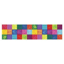 Whimisical Wall Bright Blocks Border in Multi