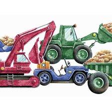 Whimsical Children's Vol. 1 Construction Truck Die-Cut Wallpaper Border