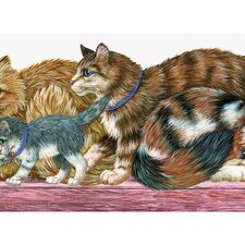 <strong>4 Walls</strong> Whimsical Children's Vol. 1 Cat Die-Cut Wallpaper Border