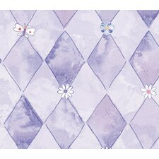 Whimsical Children's Vol. 1 Groovy Flower Wallpaper in Purple