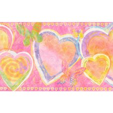 <strong>4 Walls</strong> Whimsical Children's Vol. 1 Heart Wallpaper Border